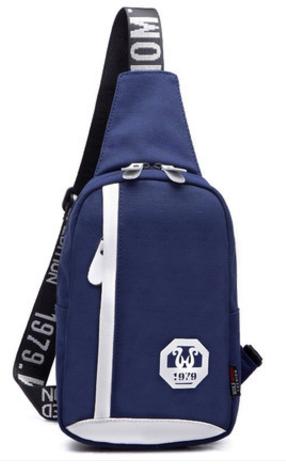 พร้อมส่ง!!! WOLF HORSE กระเป๋าสะพายไหล่ รุ่น K47 ( สีน้ำเงิน )