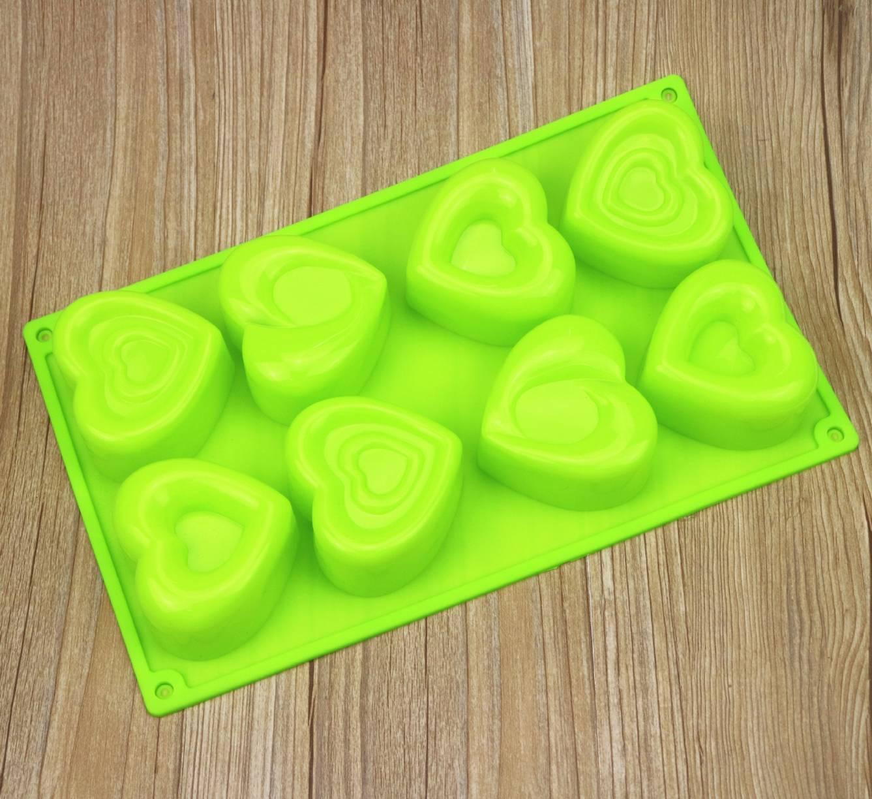 พิมพ์ซิลิโคน พิมพ์วุ้น รูปหัวใจ 8 ช่อง