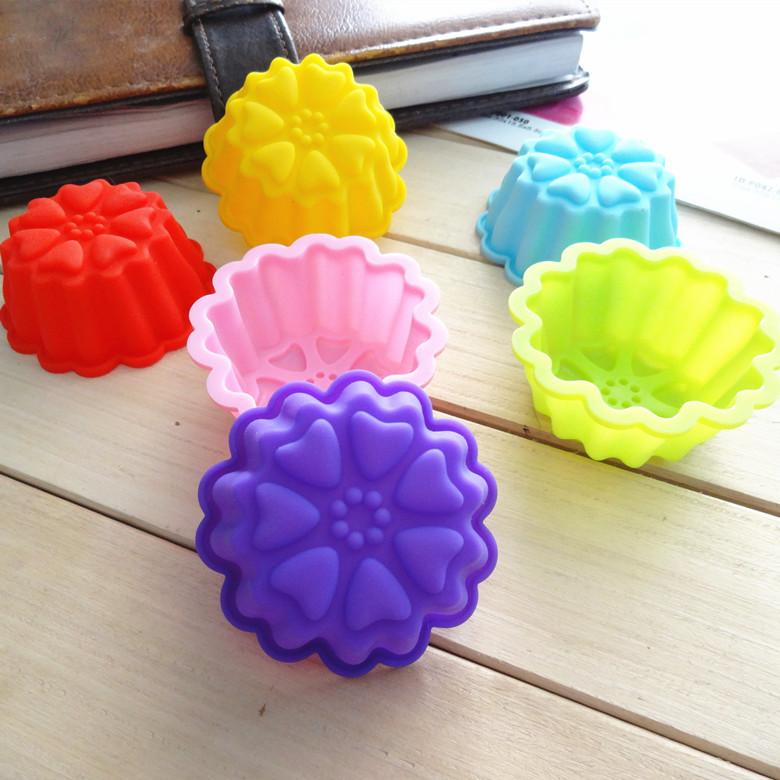 พิมพ์ซิลิโคน พิมพ์วุ้น พิมพ์สบู่ รูปดอกไม้ 5cm.(12 ชิ้น)