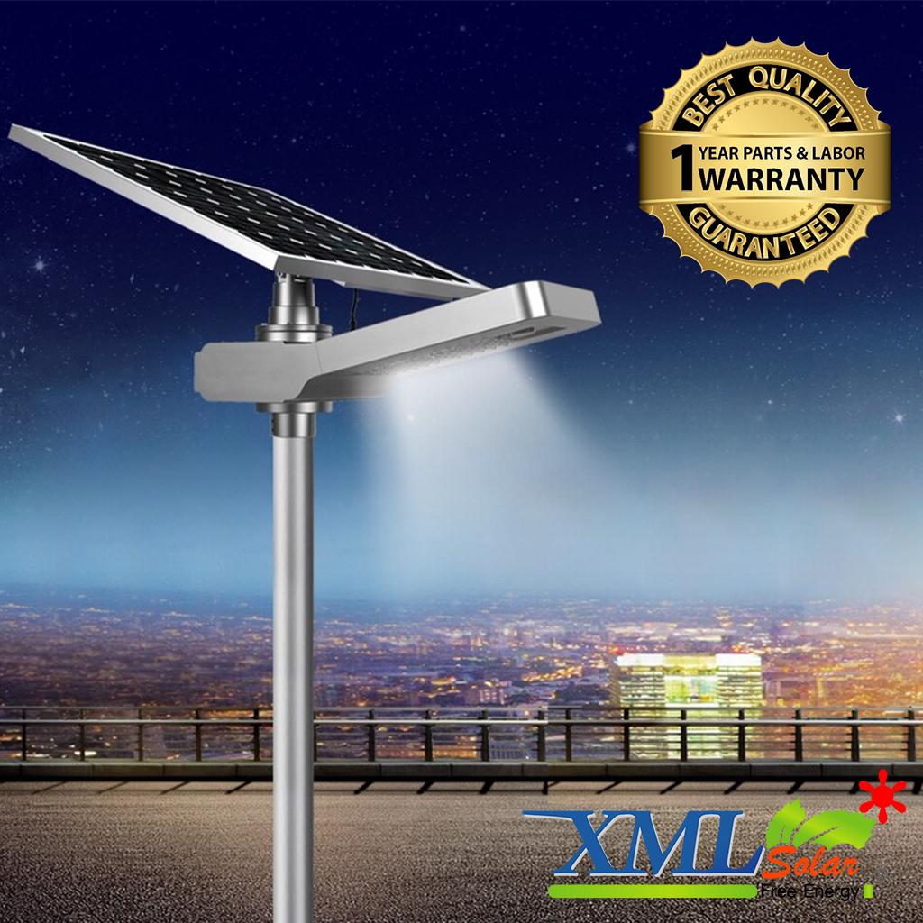 โคมไฟถนนอัจฉริยะ โซล่าเซลล์ 100 Watt Monocrystalline (แสง ขาว)