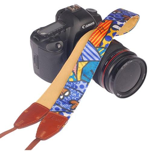 สายคล้องกล้องLYNCAรุ่นผสมหนังPU LL-05