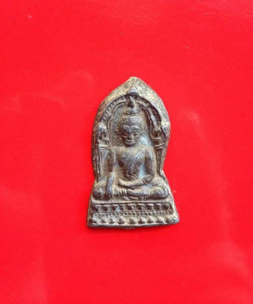 ชินราชใบเสมาฐานเตี้ยเนื้อชินเงิน กรุวัดใหญ่ รหัส0170