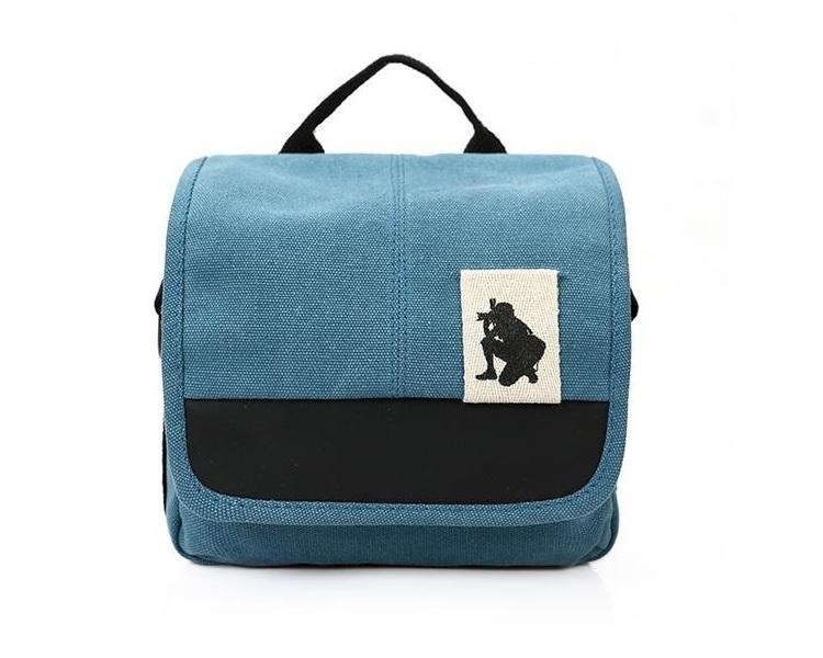 กระเป๋ากล้องmirrorless สีฟ้า