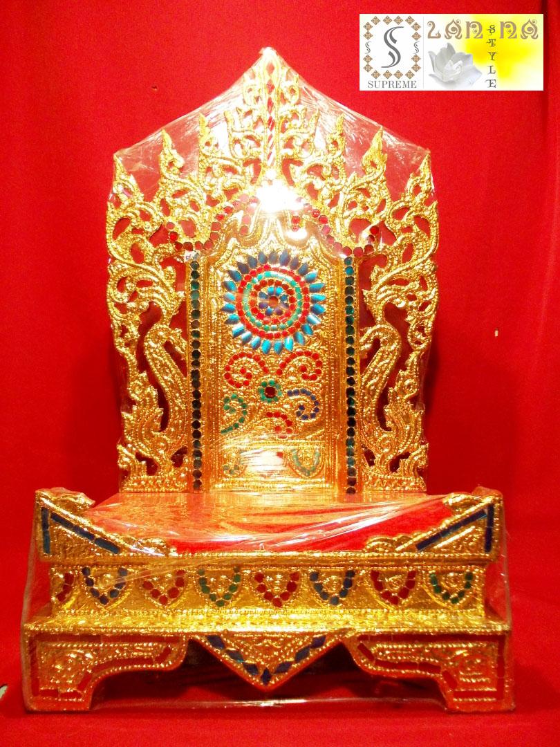 แท่นพระพม่าทรงสูง ฐานมีขอบ 12 นิ้ว แบบที่ 3รหัส130
