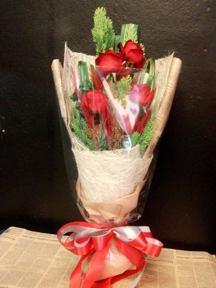 ช่อดอกไม้ วาเลนไทน์ 45