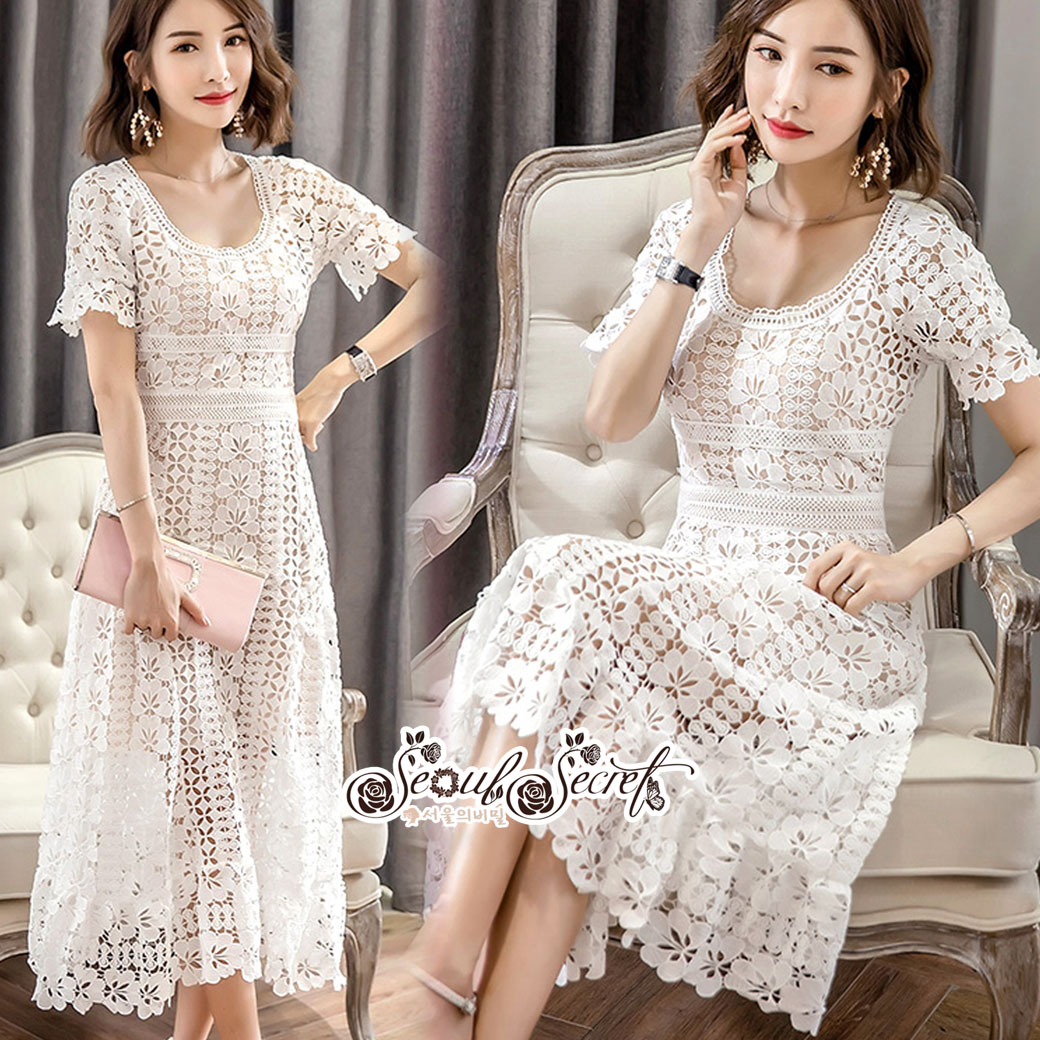 Classic Lace Dress Present Elegance New Collection