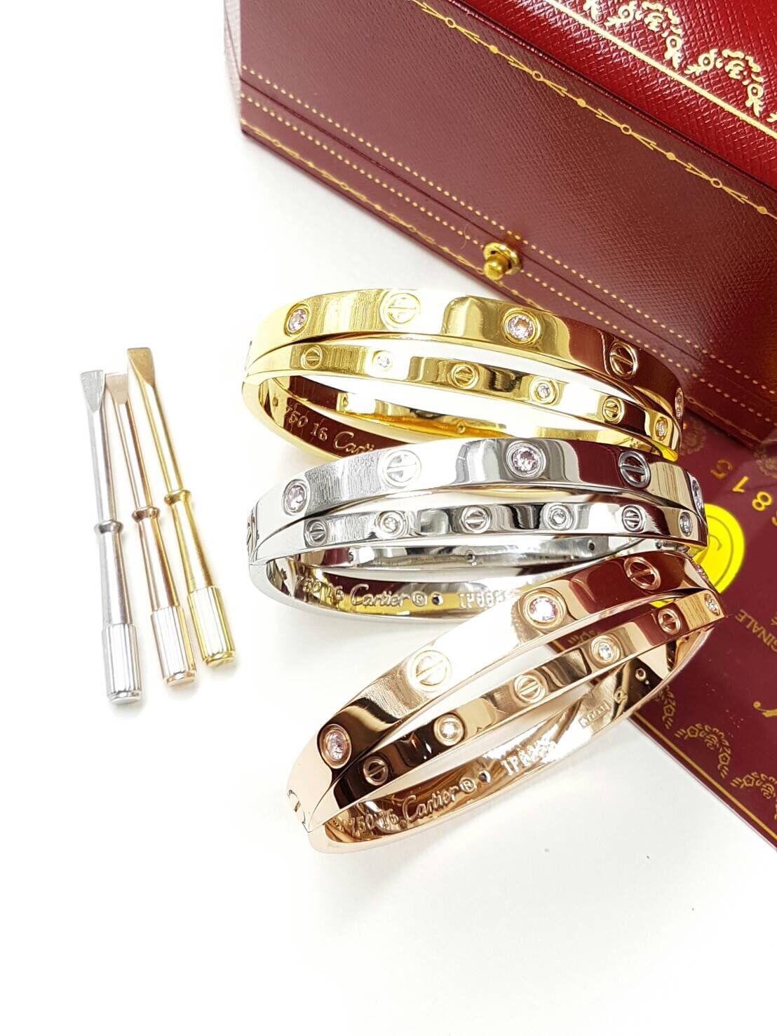 พร้อมส่ง กำไลCartier รุ่น love Bracelet รุ่นใหม่ล่าสุด