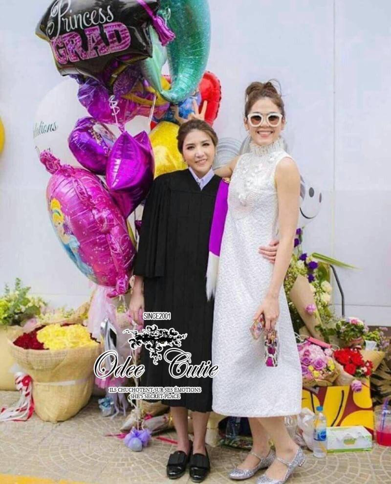 Tohn brand luxury lace maxi dress