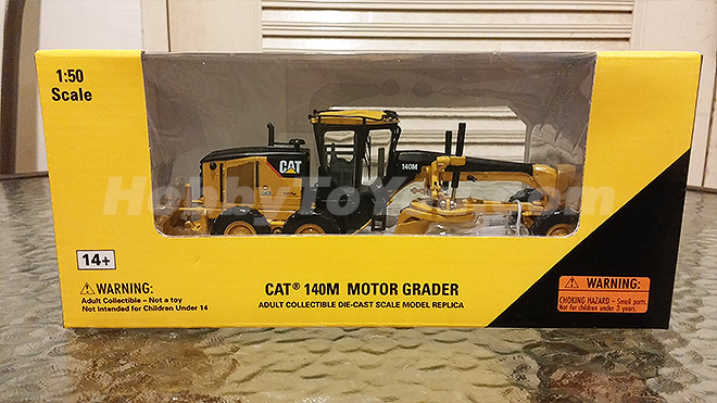 โมเดลรถก่อสร้าง CAT 140M Motor Grader by Norscot สเกล 1:50