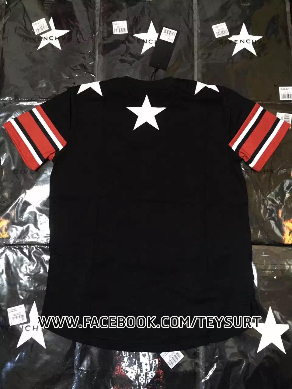 เสื้อGIVENCHY STAR STRIPES T-SHIRT [เทียบแท้]