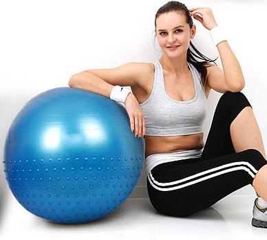 (พรีออเดอร์) บอลโยคะ ผิวเรียบ+หนาม ขนาด 85/65CM