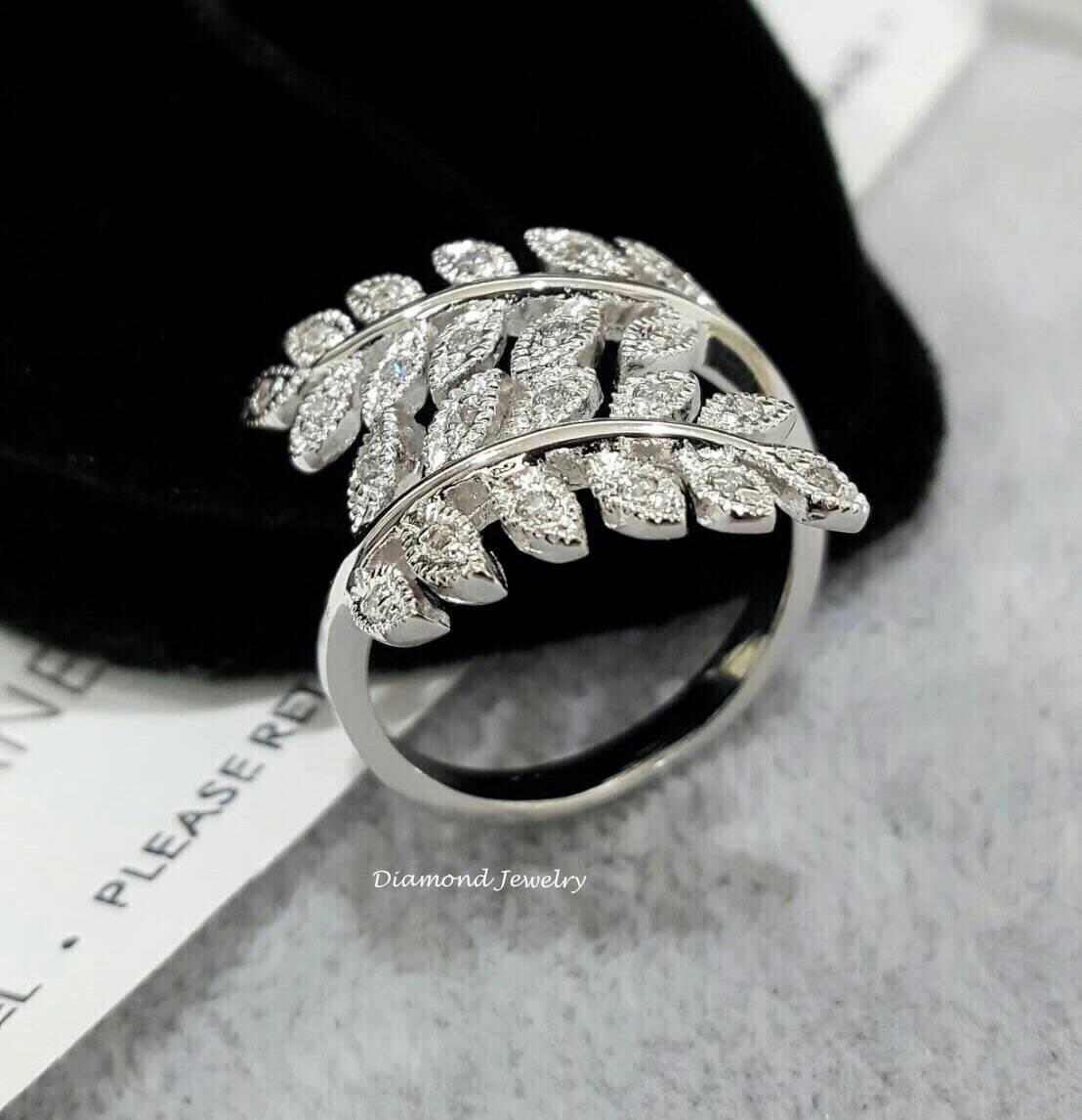 พร้อมส่ง Diamond Ring แหวนใบมะกอกงานเพชรสวิสแท้