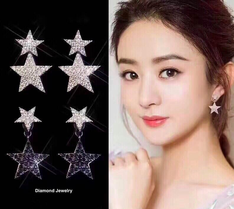 พร้อมส่ง Star Diamond Earring ต่างหูดาวงานเพชร CZ แท้