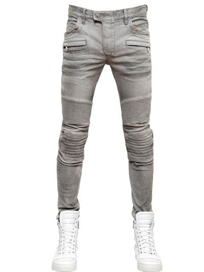 กางเกงBalmain Stretch Cotton Denim Jeans
