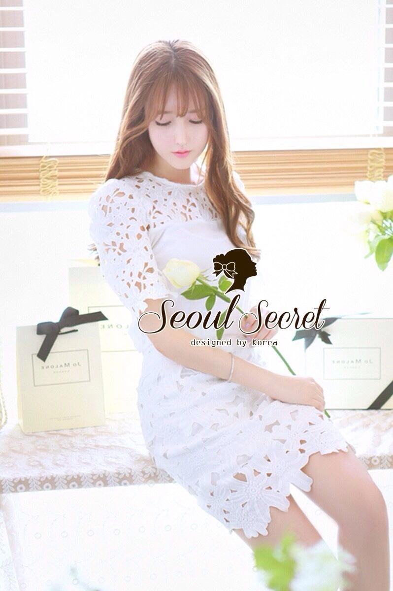 Ladies Sweetie Korea White Blouse