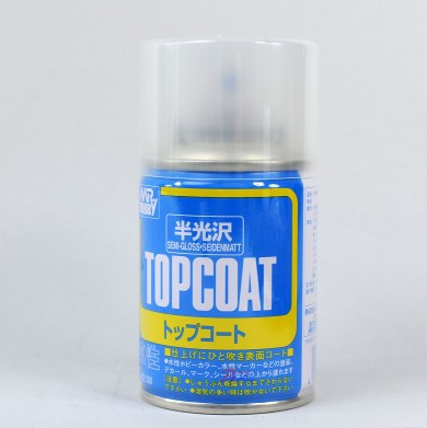 B502 Mr Topcoat กึ่งเงา (Semi-Gloss) 86ml (สูตรน้ำ)