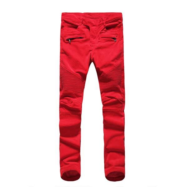 กางเกง Balmain Homme สีเเดง 2013
