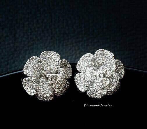 พร้อมส่ง Chanel earring งานเพชร CZ แท้ฝังอย่างดี