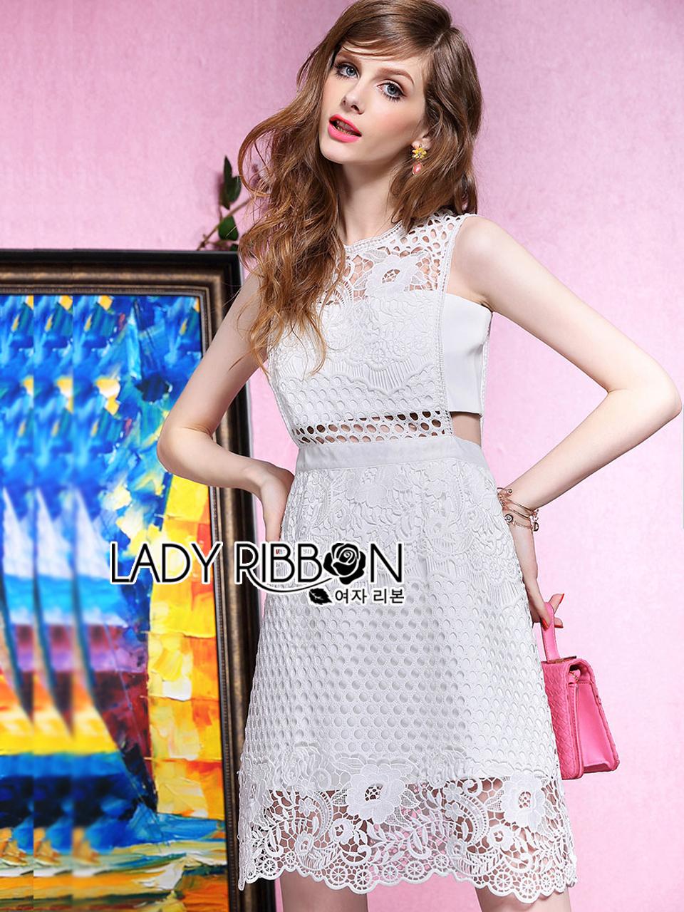 ชุดเดรสเกาหลี พร้อมส่งLady Mini candy lace dress