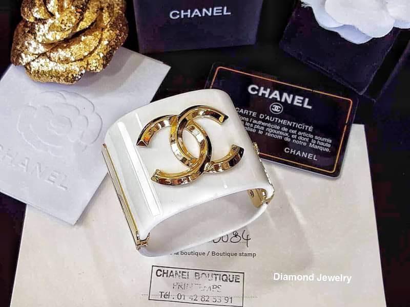 chanel cuff ตัวกำไลสีดำอะไหล่ทอง