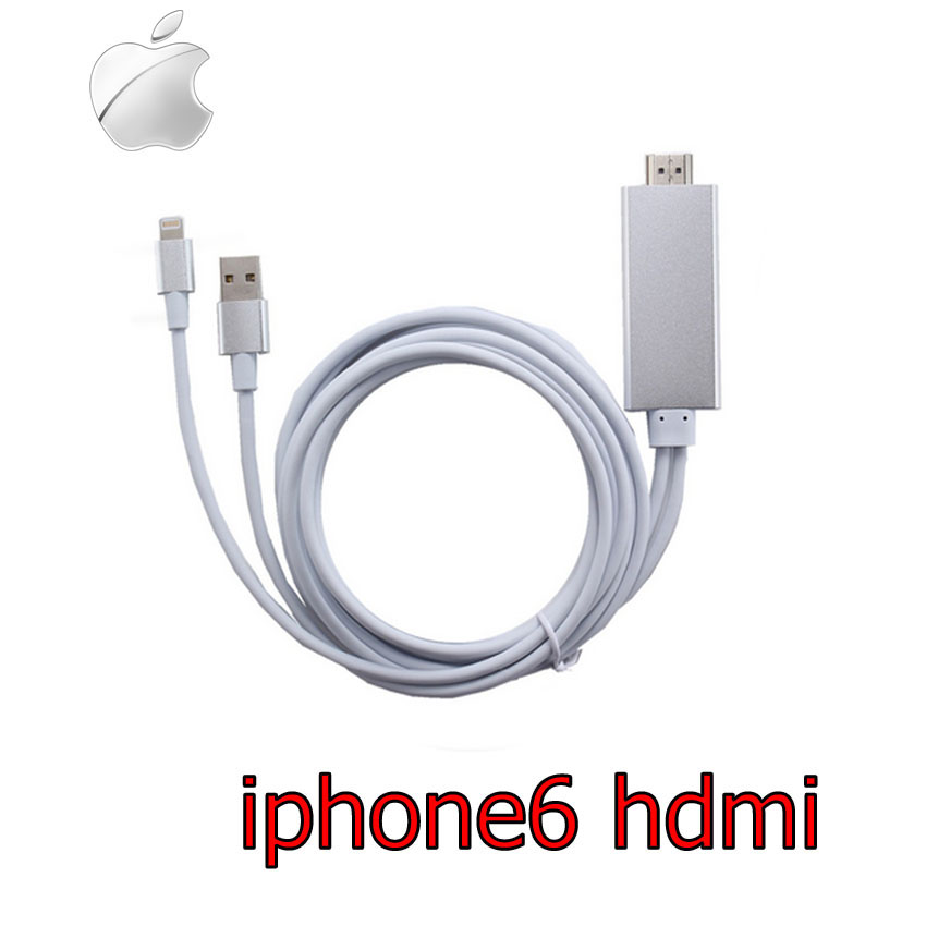 Lightning Digital AV สายhdmi ใช้กับ iPhone 5 5s 6 6s 6+ ipad iso9 ยาว2m