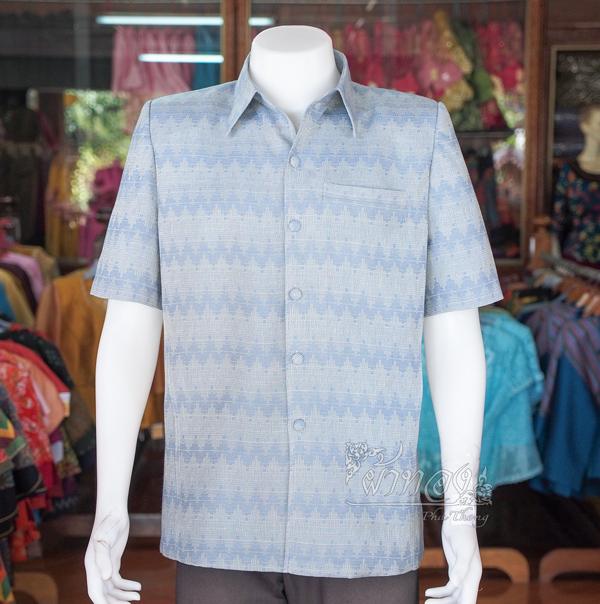เสื้อสูทผ้าฝ้ายลายมัดหมี่สุโขทัย ไซส์ XL