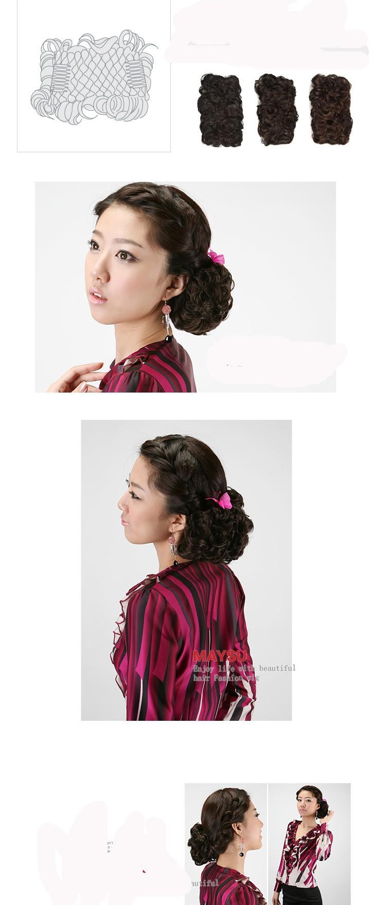 hair piece ทนความร้อนนำเข้าจากญี่ปุ่น (สีน้ำตาล)