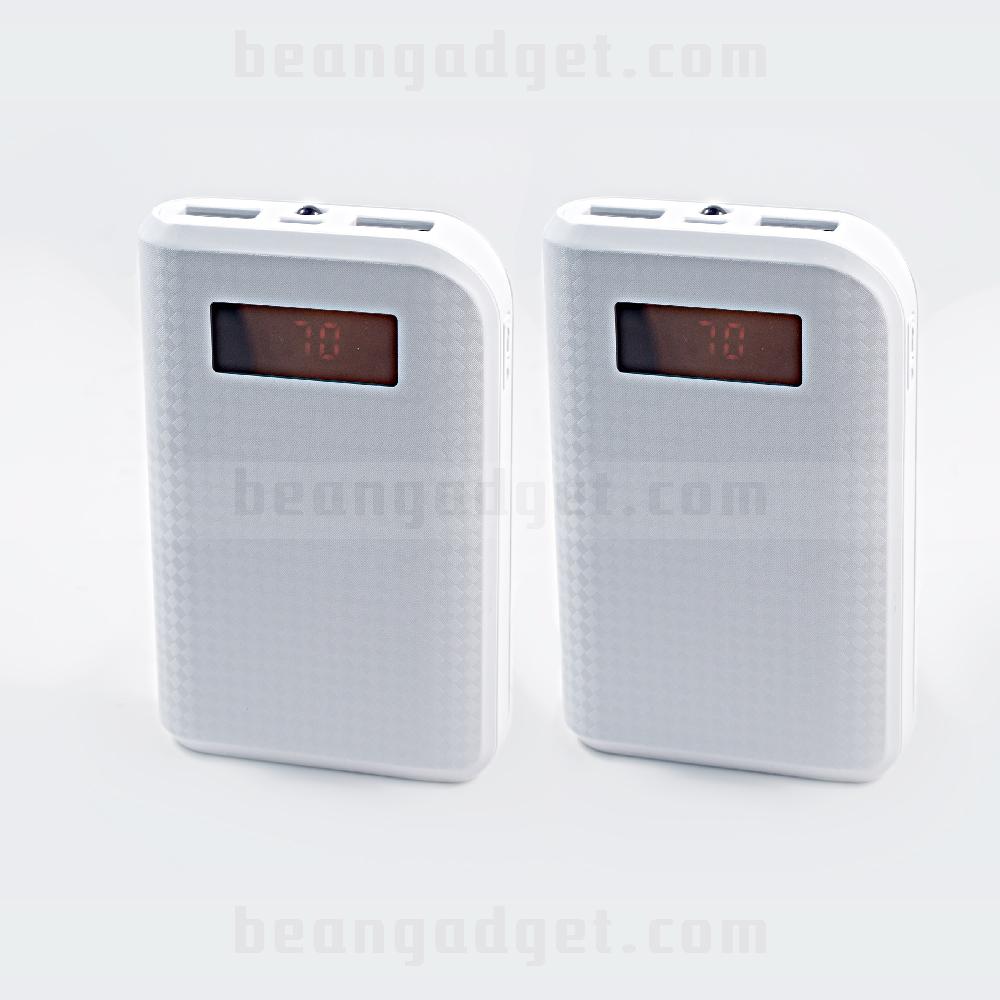 แบตเตอรี่สำรอง Proda 10000mAh ไฟฉาย LED จอ LCD - White สีขาว 2 ก้อน
