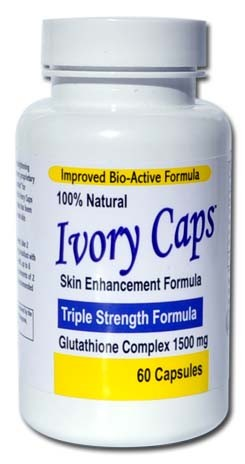 Ivory Caps 1500 mg Glutathione Complex 60 เม็ด (USA) กลูต้าไธโอนแบบเม็ด ชนิดเข้มข้น เห็นผลทันใจ ขาวสว่างใสรวดเร็ว ช่วยลดความหมองคล้ำและจุดด่างดำ อีกทั้งยังช่วยลดปละป้องกันริ้วรอย