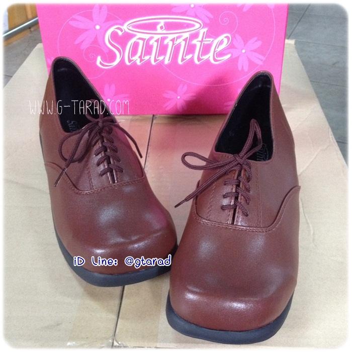 Sainte 29204 - รองเท้าหนังน้ำตาล หญิง