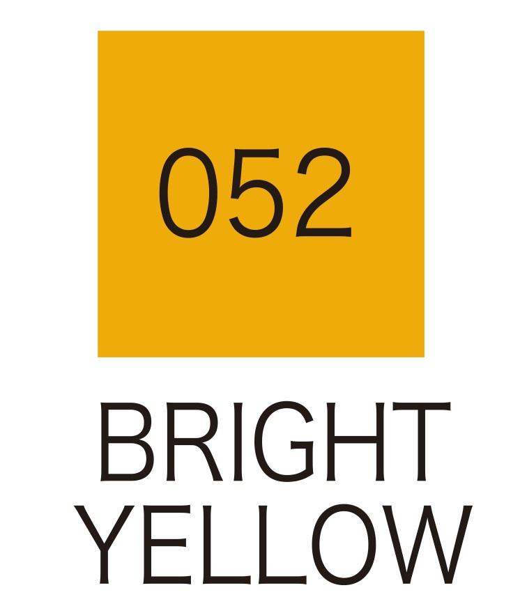 ปากกาสี 2 หัว ZIG CLEAN COLOR No.052 - Bright Yellow