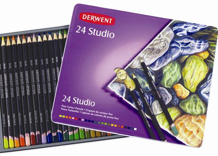 สีไม้ DERWENT Studio - 24 Colours