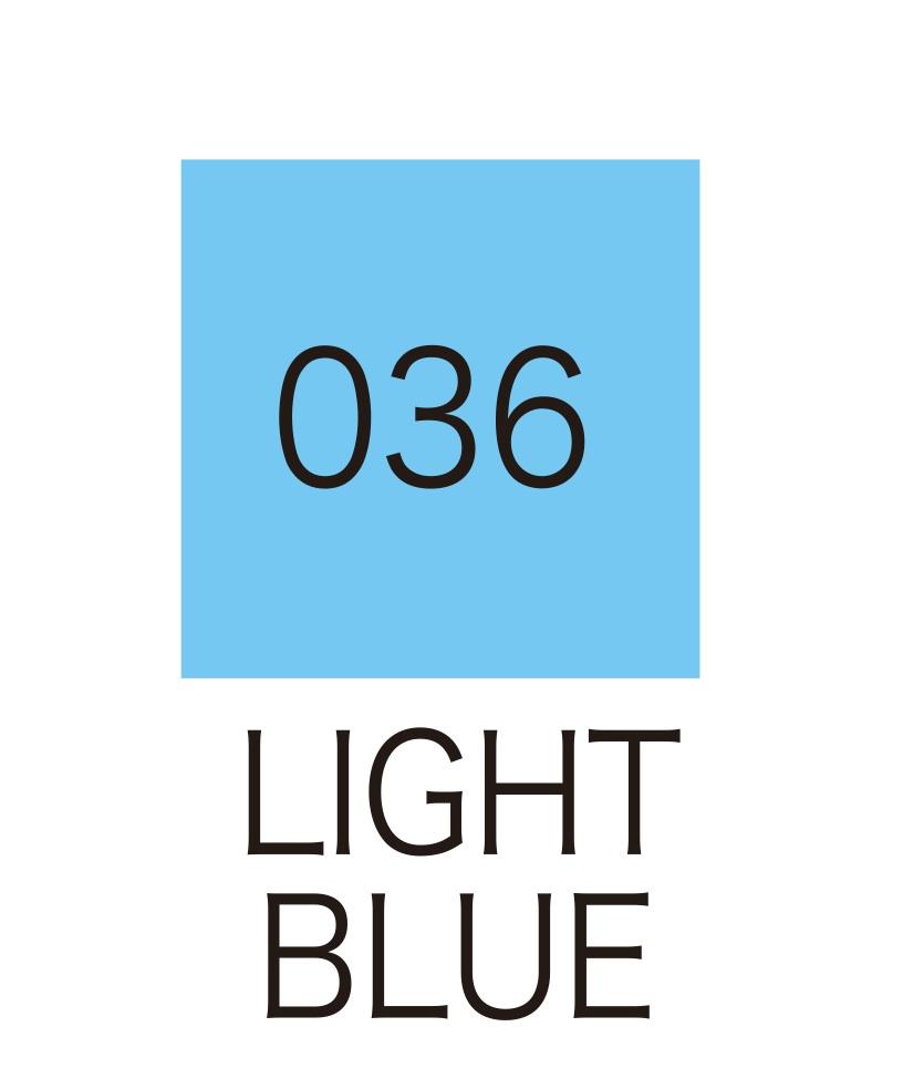 ปากกาสี 2 หัว ZIG CLEAN COLOR No.036 - Light Blue