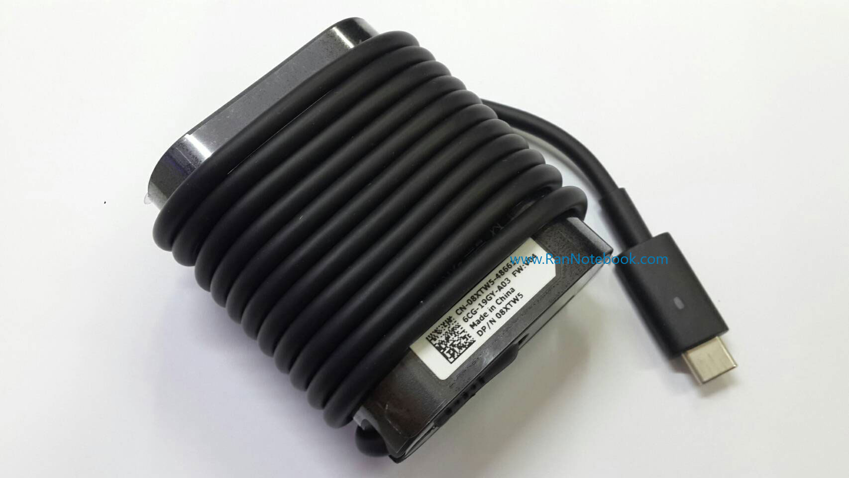 Adapter Dell XPS 13 9365 2in1 30W Type C สายชาร์จแท้ ประกัน ศูนย์ Dell Thailand