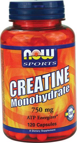 NOW Foods Sports Creatine Monhydrate 750 mg 120 Caps ช่วยเพิ่มพลังกำลัง ความแข็งแรงและเพิ่มสมรรถภาพสำหรับการทำกิจกรรมต่างๆ สำหรับผู้ที่ออกกำลังกาย