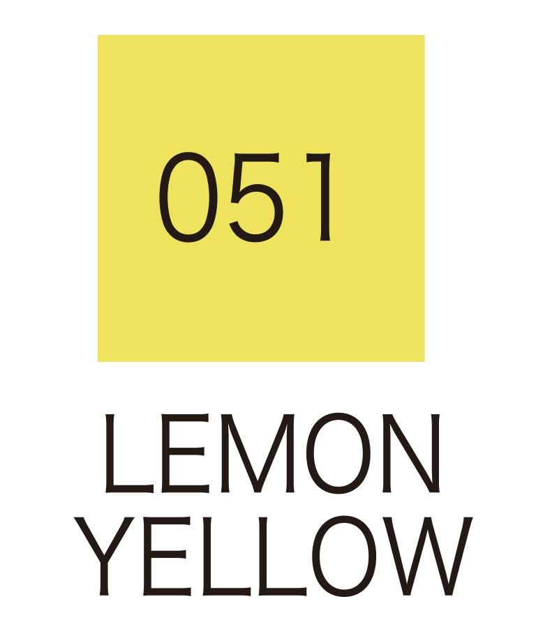 ปากกาสี 2 หัว ZIG CLEAN COLOR No.051 - Lemon Yellow