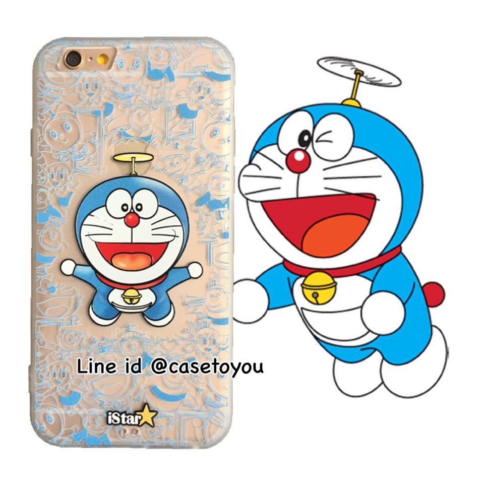 เคสใส สกรีนลายเส้นนูน Doraemon 02 iPhone 6/6S