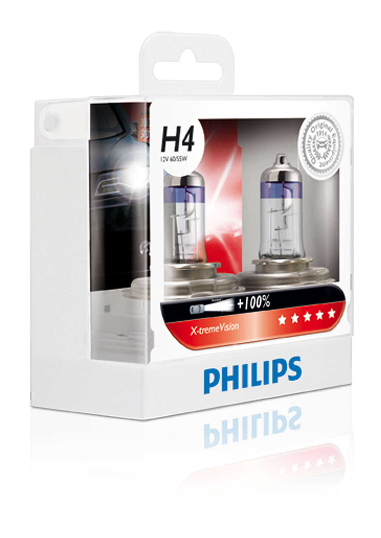 หลอดไฟ Phillip XV H4 100% 55W