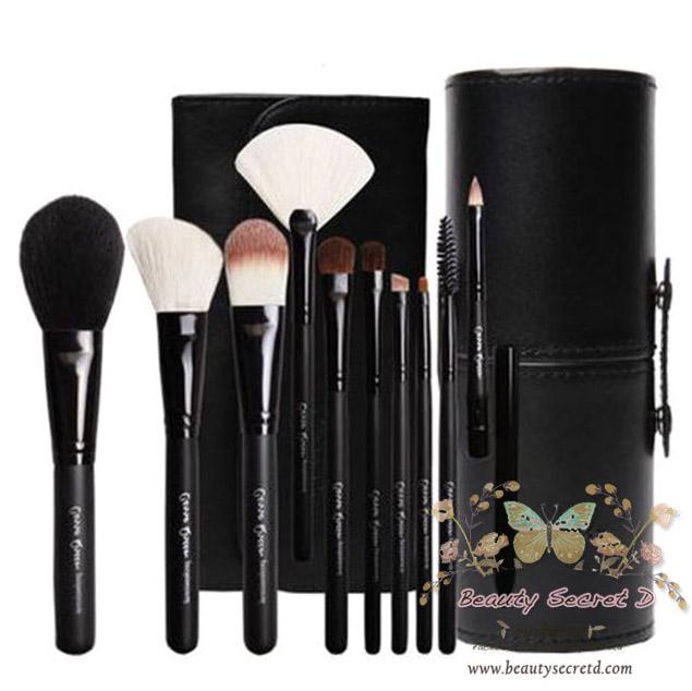 ชุดแปรงแต่งหน้า รุ่นพิเศษ/10 ชิ้น Cerro Qreen Professional Makeup Brushes Dream Set - Black (Limited Edition)