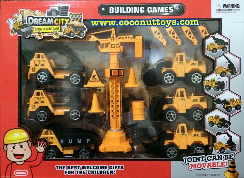 ชุดเครนและรถก่อสร้าง6แบบ