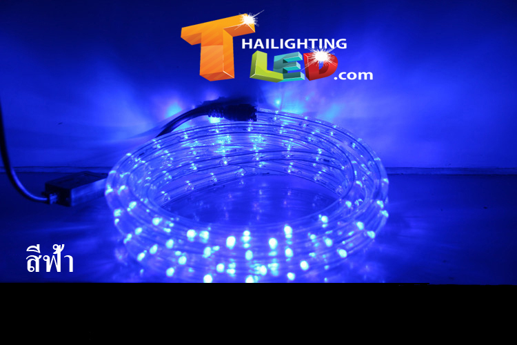ไฟสายยาง (ท่อกลม) LED 10 m สีฟ้า