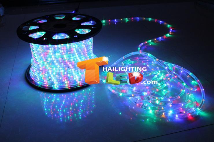 ไฟสายยาง(ท่อกลม) LED 100 m สีรวม