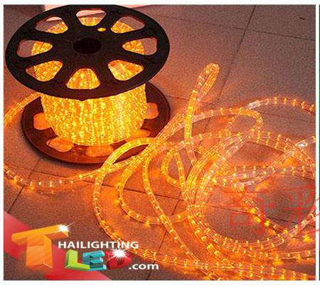 ไฟสายยาง(ท่อกลม) LED 100 m สีเหลือง