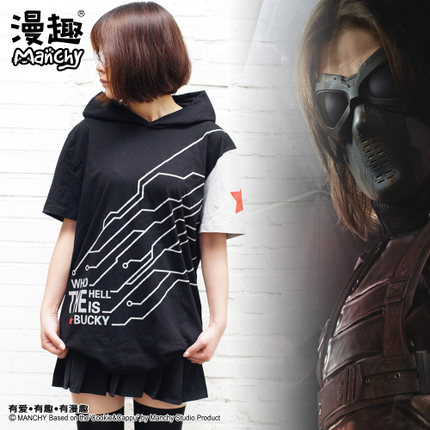 Preorder เสื้อยืดมีฮู้ด Winter Soldier กัปตันอเมริกา