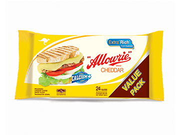 Allowrie cheddar cheese 1 Kg 81 แผ่น