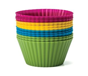 ถ้วยซิลิโคน (silicone_cup) คละสี 12 ชิ้น