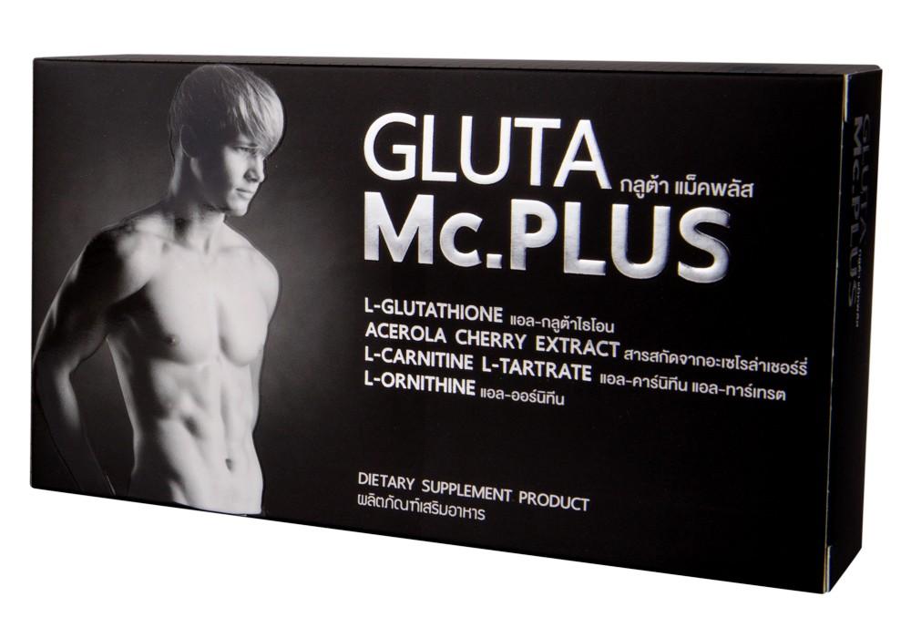 ผิวขาวใสด้วย GLUTA Mc.PLUS ผลิตภัณฑ์เสริมอาหาร กลูต้า แม็คพลัส บรรจุ 20 เม็ด กลูต้า แม็คพลัส Gluta Mc Plus อาหารเสริมกลูต้าแม็คพลัส