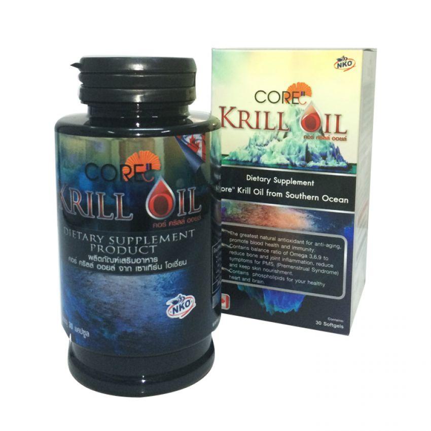 Core Krill Oil คอร์ คริล ออย 30 แคปซูล ของแท้ ราคาถูก ปลีก/ส่ง โทร 089-778-7338-088-222-4622 เอจ