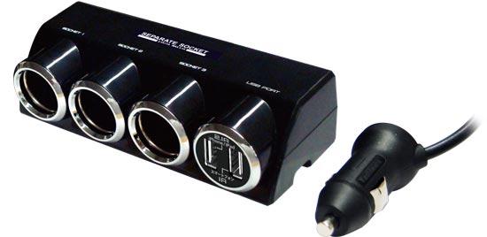 Socket เสริม 3ช่อง และพอร์ท USB 2ช่อง