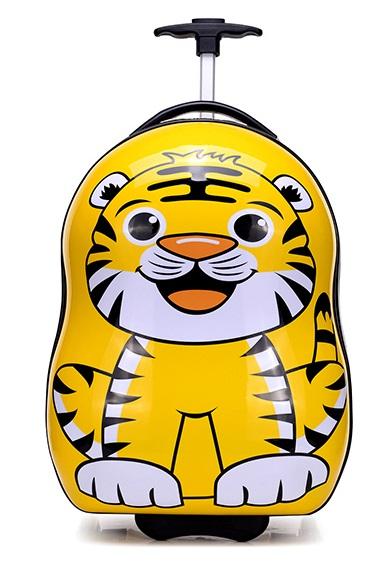 กระเป๋าเดินทางเด็ก รุ่น Animal ลายเสือ ไซต์ 17 นิ้ว ล้อลาก